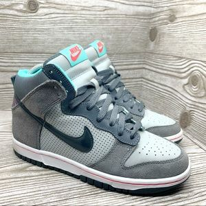 Nike Dunk SB High gray teal youth size 5